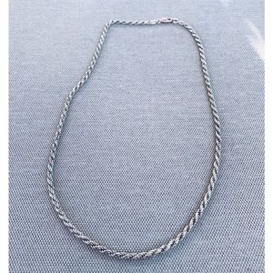 Sterling rope chain